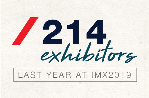 214 Exhibitors at IMX2019