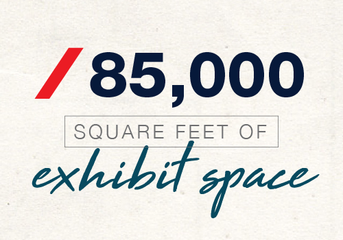 85,000 square feet of exhibit space